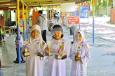 Malaysia primary school children Editorial Photo