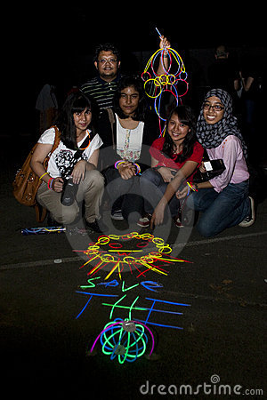 Malaysia s celebrate Earth Hour 2011 Editorial Photography