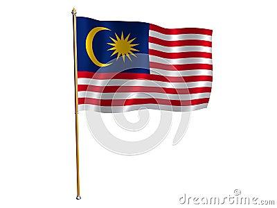 Malaysia silk flag