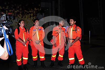 Malaysian Airline Flight MH370 -  Rescue Team Editorial Photo