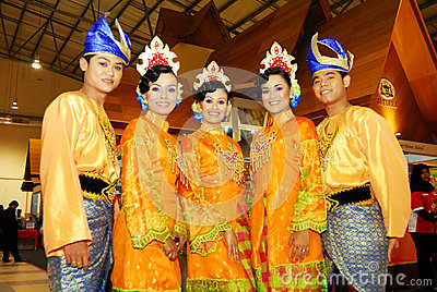 Malaysian cultural outfits Editorial Stock Image