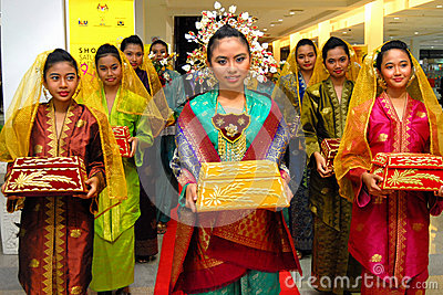 Malaysian cultural outfits Editorial Stock Photo