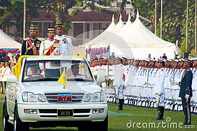 Malaysian King Birthday Parade Celebrations 2011 Editorial Stock Photo