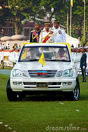 Malaysian King Birthday Parade Celebrations 2011 Editorial Photo