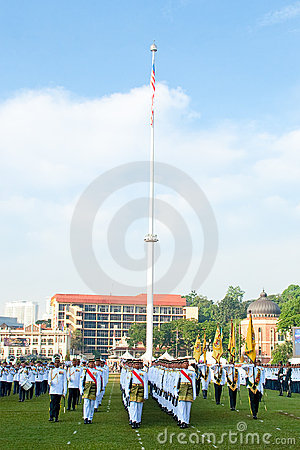 Malaysian King Birthday Parade Celebrations 2011 Editorial Photography