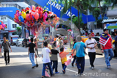 Malaysian National Day 2012 Editorial Stock Image