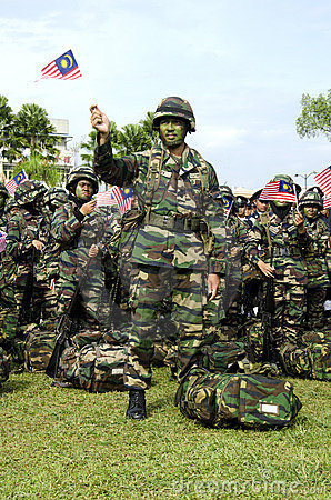 Malaysian Wataniah Army in the National Day Editorial Stock Image