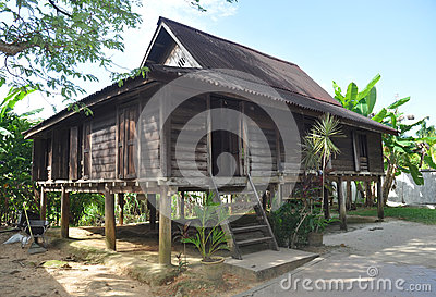 Malaysian wooden house