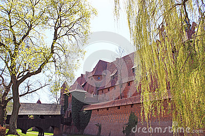 Malbork castle in Pomerania region of Poland.