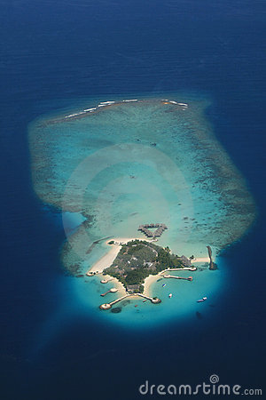 Maldive atoll from above