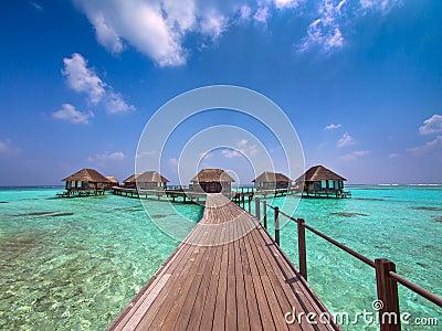 Maldive island resort Editorial Stock Image