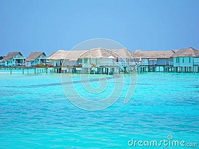 Maldive water villa