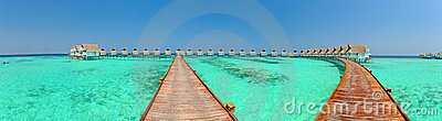 Maldives bungalows Panorama