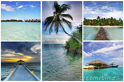 Maldives collage