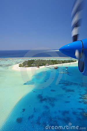 Maldives and Resort aerial