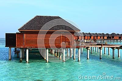 Maldives water house