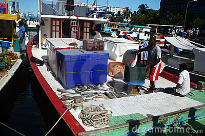 Maldivian fishing boat Editorial Stock Image