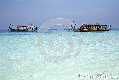 Maldivian fishing boats