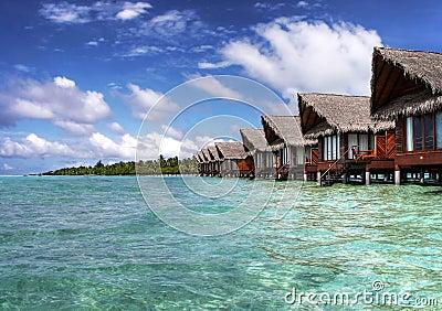 Maldivian ocean villas