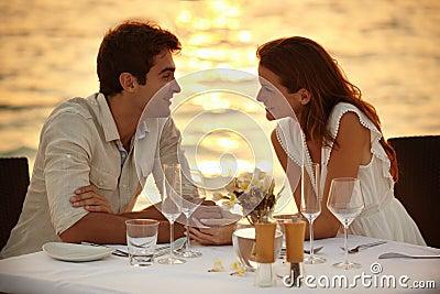 Maldivian romantic dinner