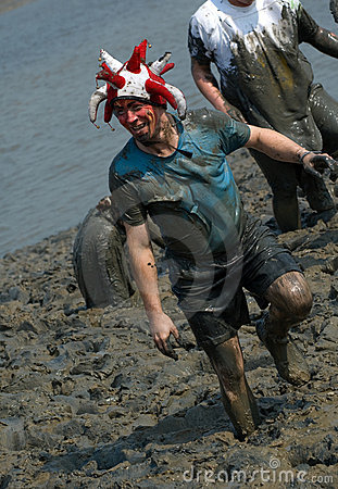 Maldon Mud Race 2011 Editorial Photo
