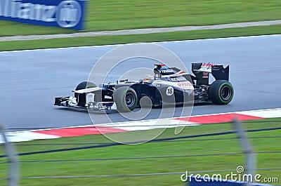 Maldonado, team William-Renault Editorial Photography