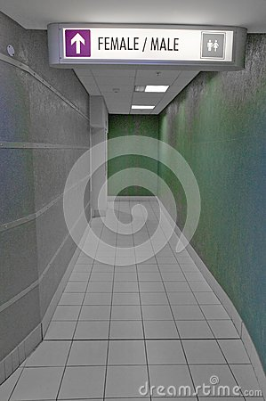 Free Male And Female Directions To Bathroom, Both Sexes Stock Photos - 52318853