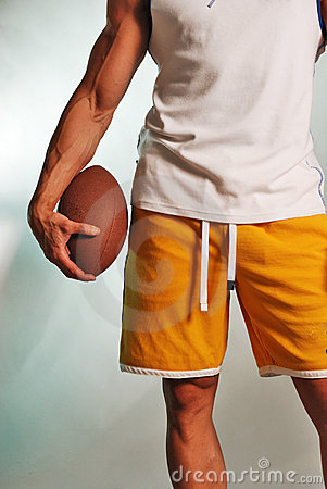Male athlete with football