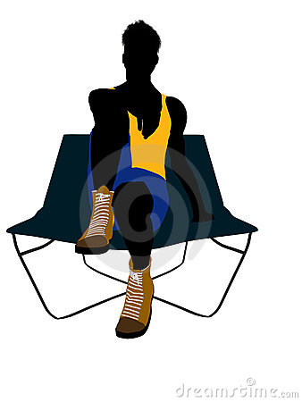 Male Athlete On A Lounge Chair Silhouette