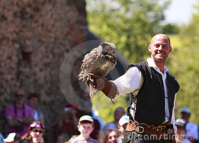 Male bird tamer Editorial Stock Photo
