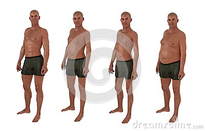 Male Body Shape Diversity Stock Images Image 33853654