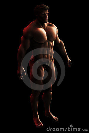 Male Bodylbuilder Illustration