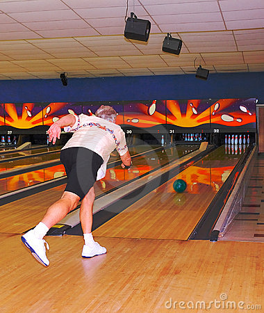 male bowler in action