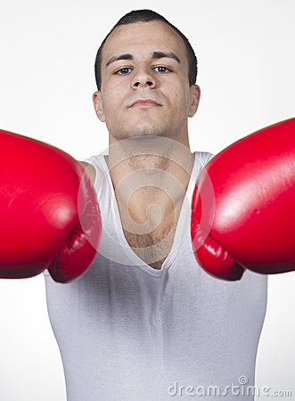 Male boxer ready for match