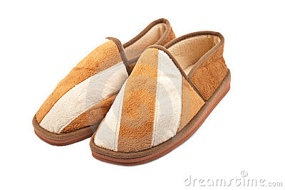 Male brown slippers