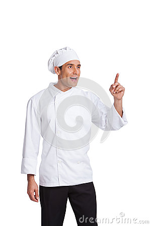 Male chef  making hand  gesturing