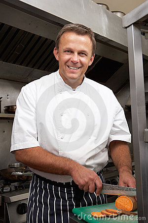 Male Chef Preparing Vegetables