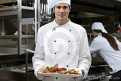 Male Chef in The Restaurant