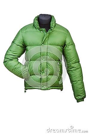 Male coat isolated