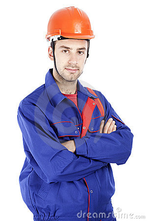 A male construction worker