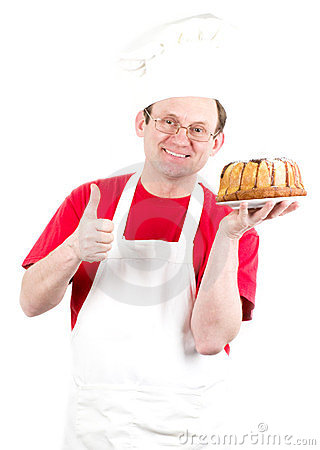 Male cook in uniform and hat