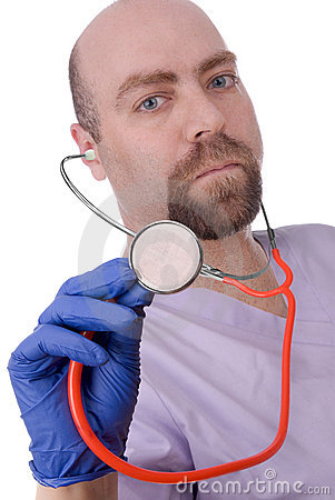 Male doctor with stethescope