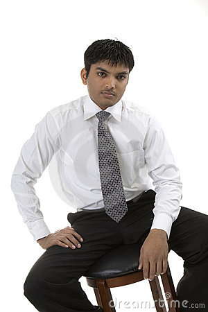 Male in dress shirt and tie