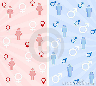 Male and female banners