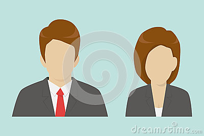 Male and female business icons