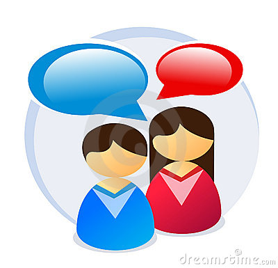 Male & female chat icon