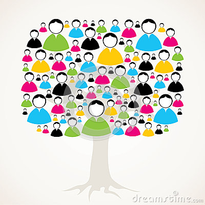 Male and female message tree