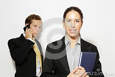 Male and female model business dressed