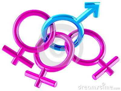 Male and female signs Cartoon Illustration