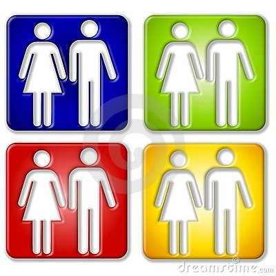 Male Female Square Icons
